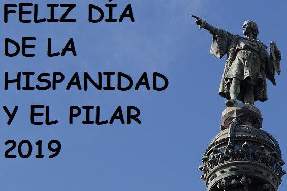 Feliz Día de la Hispanidad y el Pilar, anuncio montado por varios niños de Primaria y el profesor de Música Félix Bello