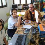 «El Día Mundial de la Radio», se celebra en Radio Colegio Virgen del Mar con un programa dirigido por las alumnas de 4º de Primaria, Telma Batista, Inés Blanco y Acerina Dorta, en el charlan con el coordinador de este proyecto, el profesor, Domingo J. Jorge