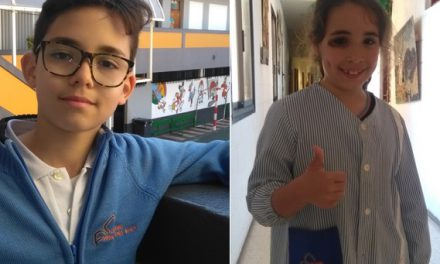 Aarón de Armas Herrera, alumno de 4º de Primaria, entrevista en «Famosos del Cole» a Valeria Leal  Rivero, Campeona de Ciclismo en Canarias