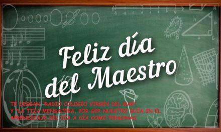 Spot del «Día del Maestro, Constitución e Inmaculada», montado, desde el Aula de Música, por Samuel Cabrera, Gloria Rodríguez, Samuel Araujo y Noelia Calo, alumnos de 2º ESO-A
